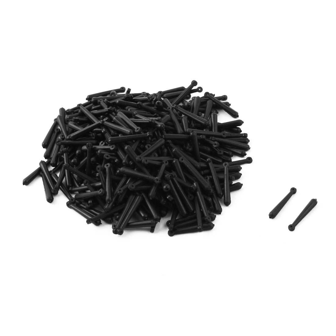 300 Pcs 17mm x 1.5mm Black Soft Plastic Floaters Fishing Bobbers