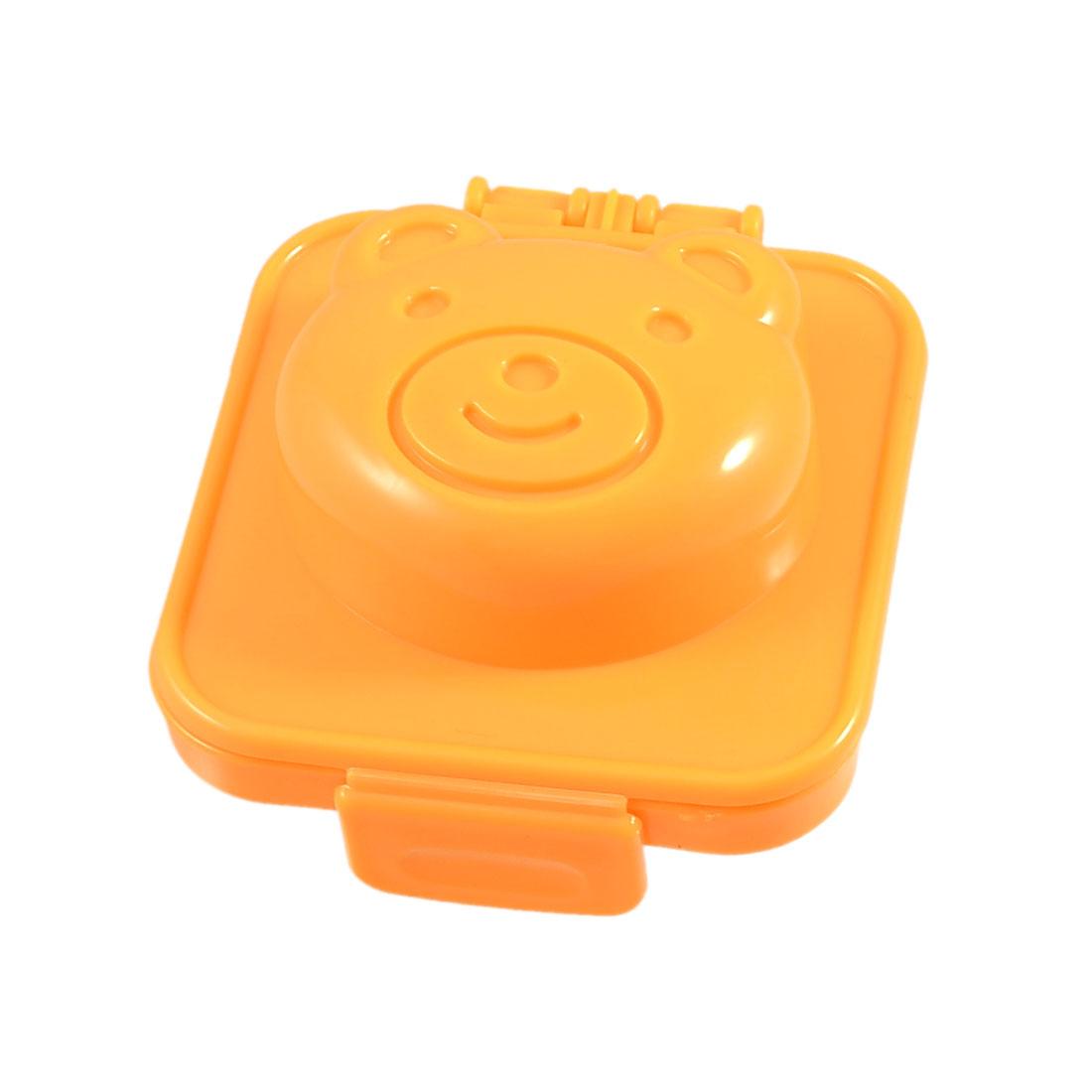 Orange Plastic Bear Head Shaped Rice Ball Mould Onigiri Mold