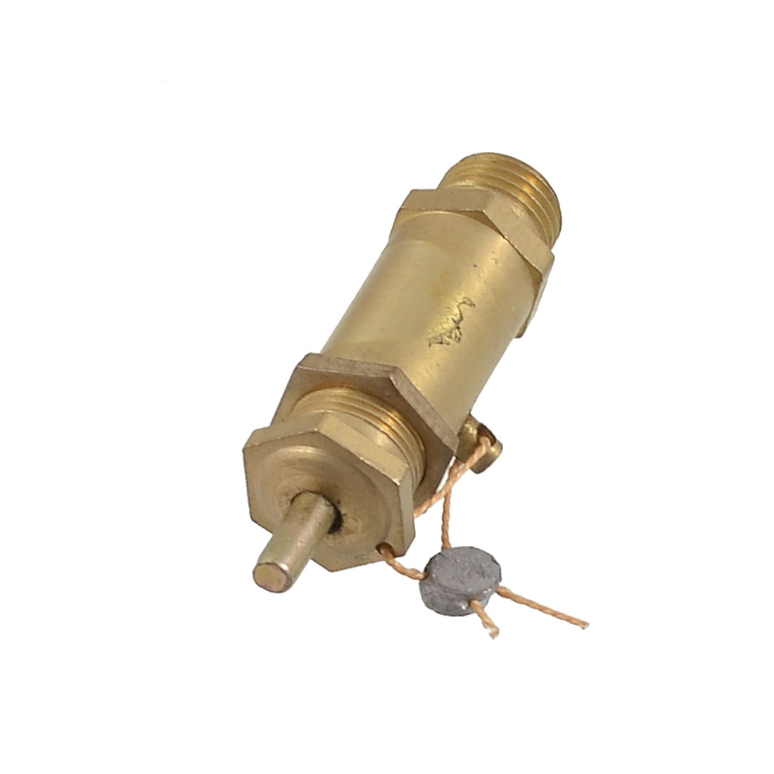 Gold Tone Metal 13mm Male Thread Air Compressor Safety Relief Valve