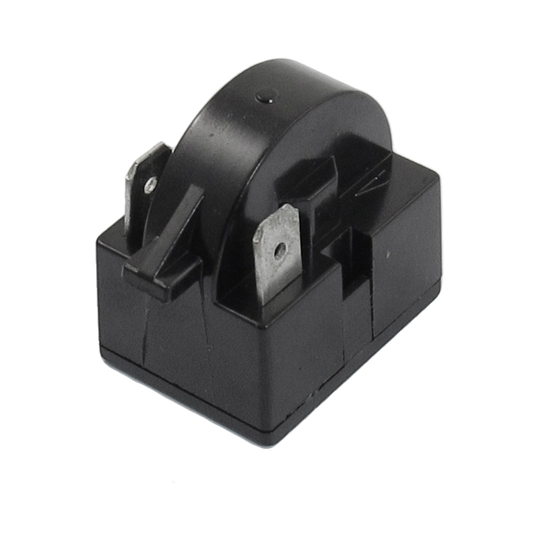 Black Plastic Shell 2 Terminals PTC Starter Relay for Refrigerator 17 Ohm