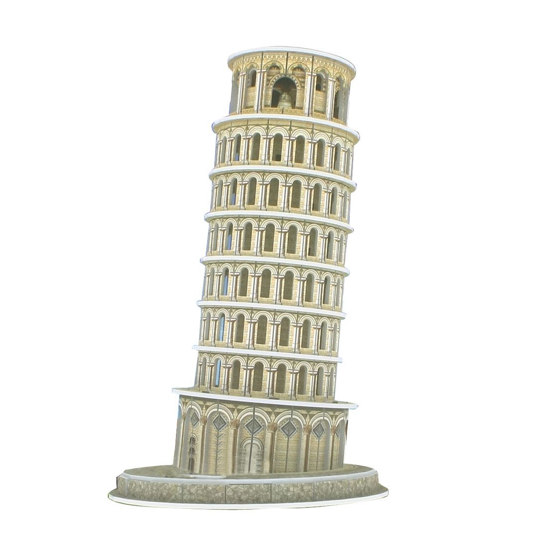Bronze Tone Paper Foam Leaning Tower of Pisa Puzzle Toy for Children