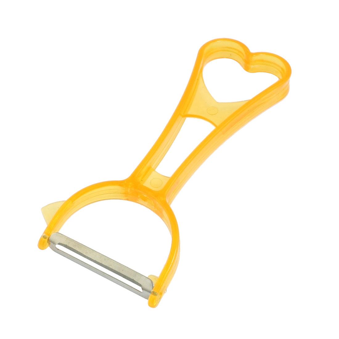"""Orange Grip 2.0"""" Width Remove Stainless Steel Blade Vegetable Peeler"""