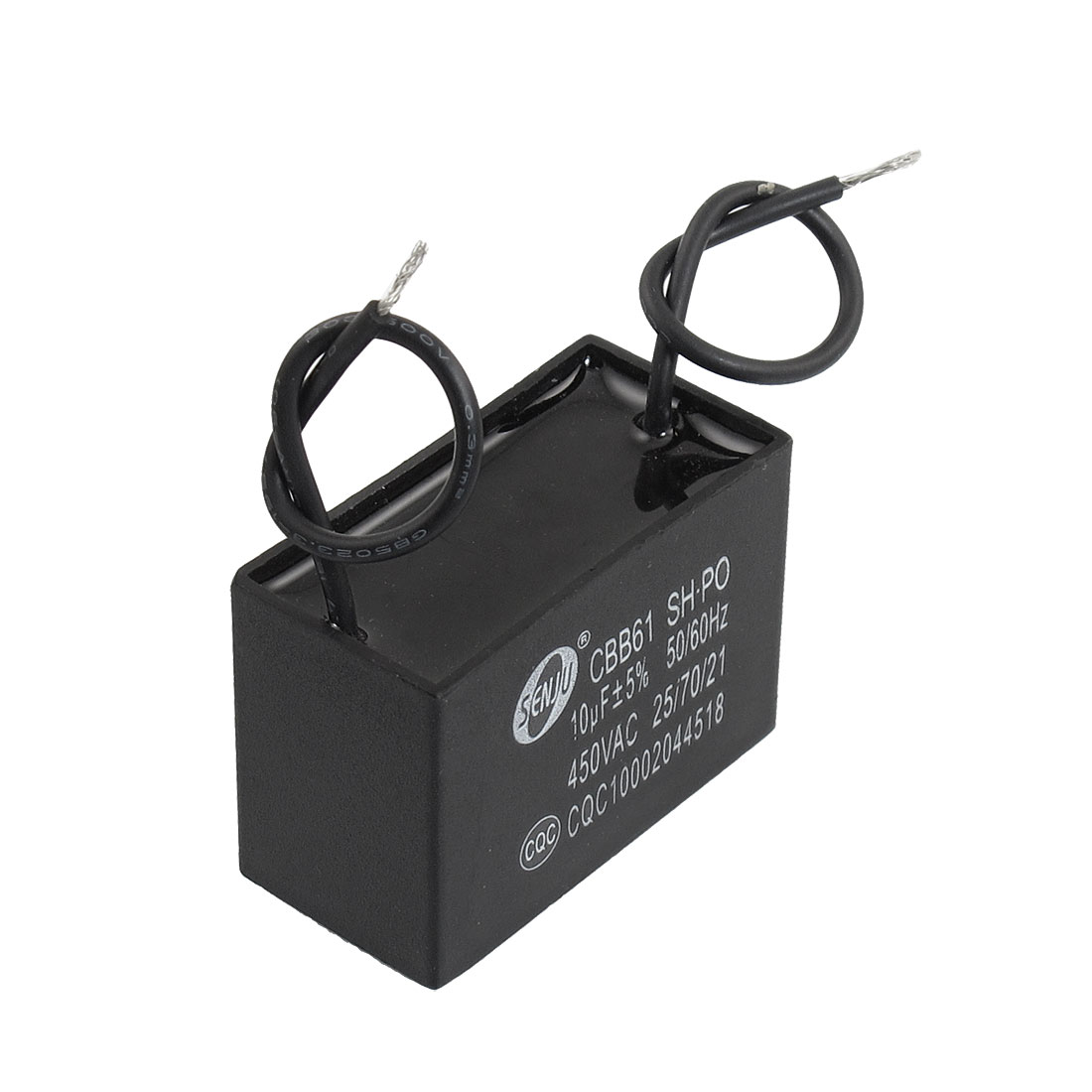 450V 10uF 50/60Hz Fan Motor Run Capacitor CBB61