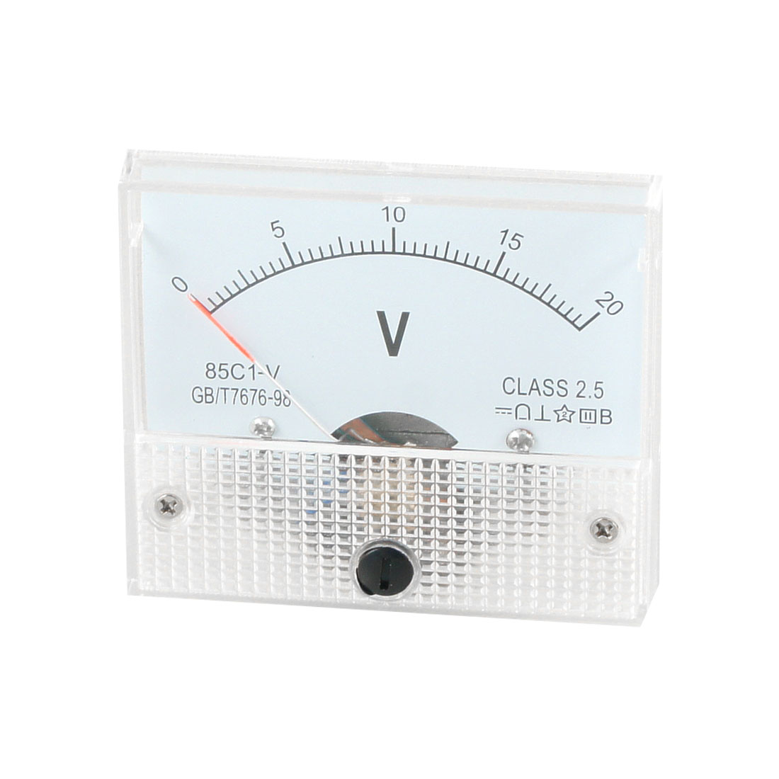 85C1 DC 0-20V Rectangle Analog Volt Panel Meter Gauge