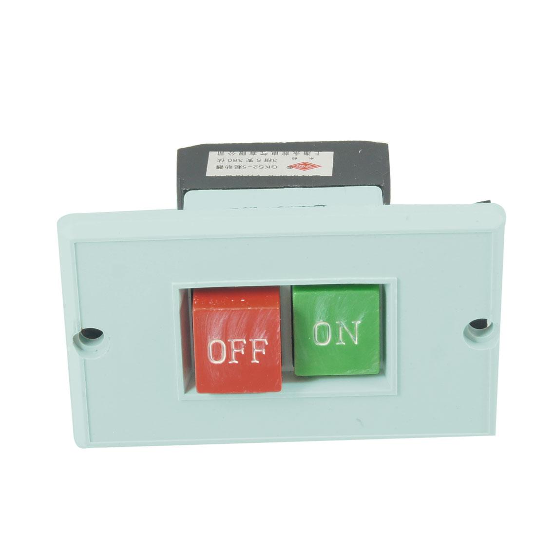 AC380V 5A Cutting Machine On/Off Push Button Switch QKS2-5
