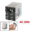 JQX-13F 10A/240VAC 10A/28VDC Contact AC 220V Coil Electromagnetic Relay w 8 Pin