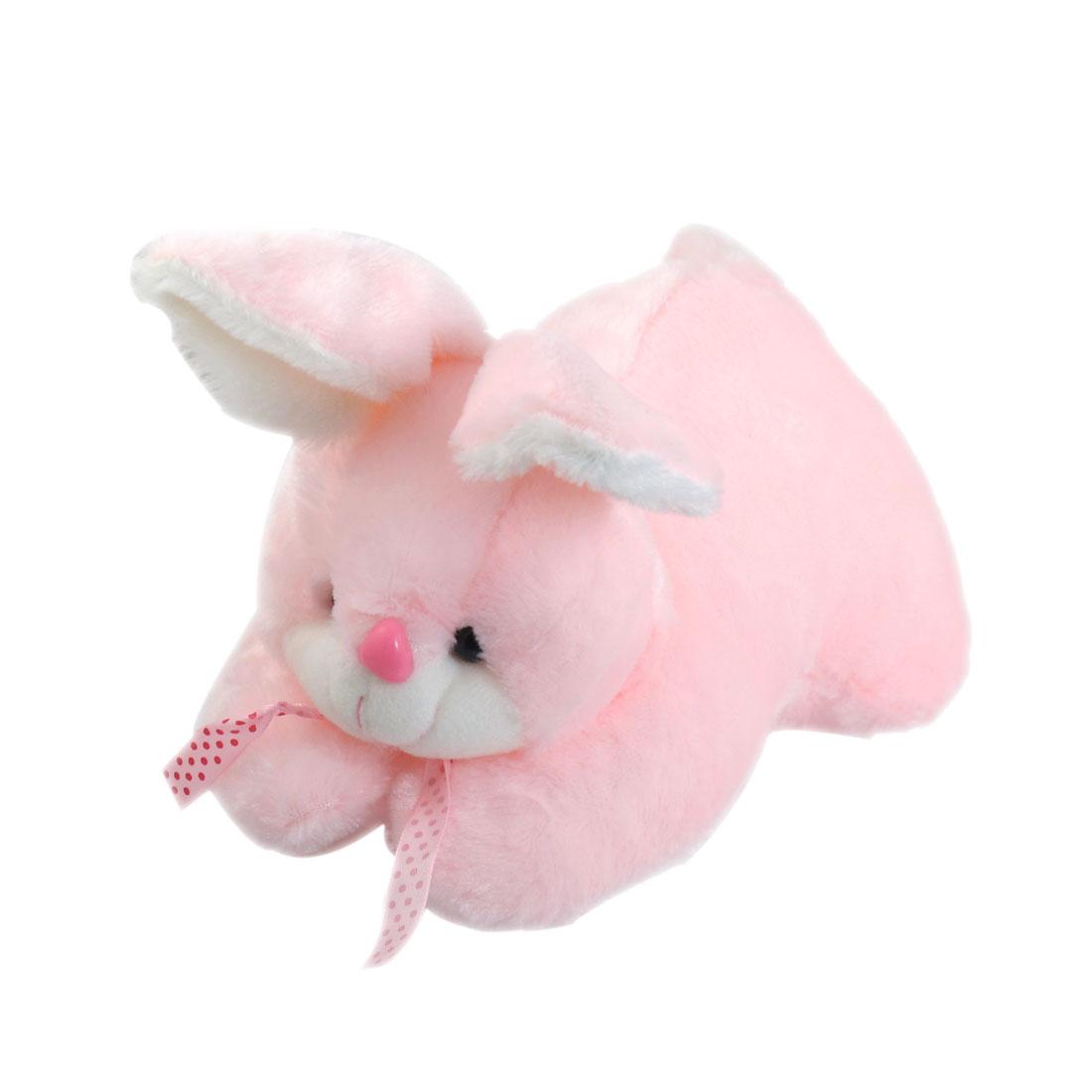 "11.8"" Length Pink Cute Plush Stuffed Fuzzy Play Tummy Rabbit Toy"