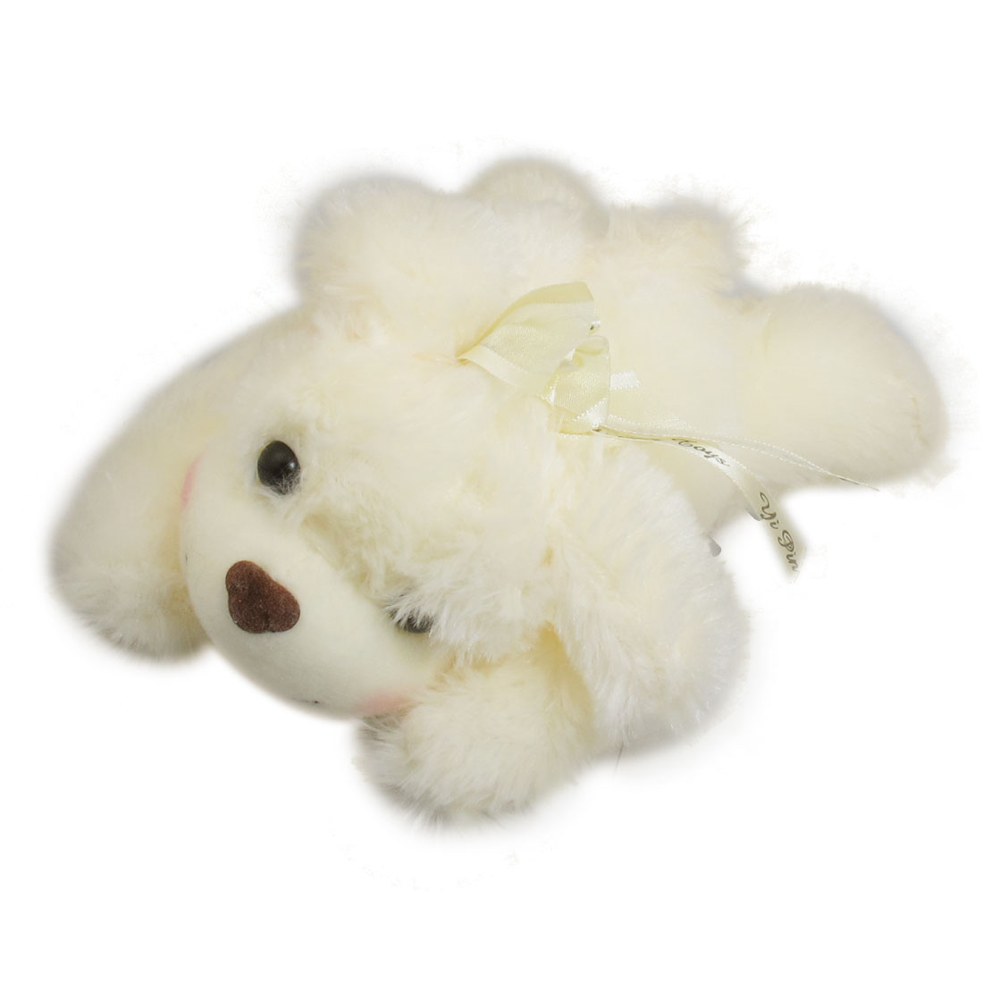 Beige Cute Plush Stuffed Fuzzy Play Tummy Puppy Scented Dog Toy for Kids