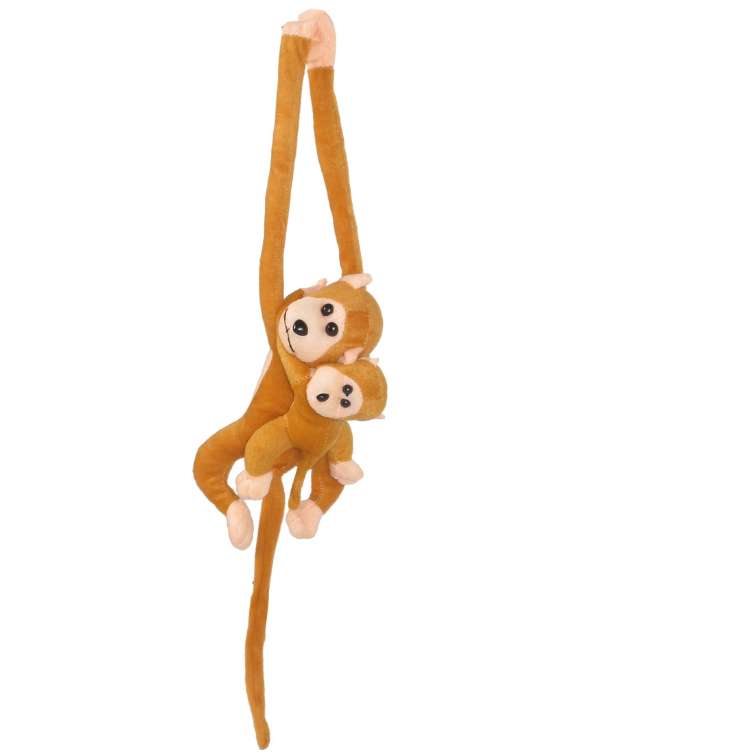 Gold Tone Plush Long Arms Two Scented Monkey Toy w Cry Sound