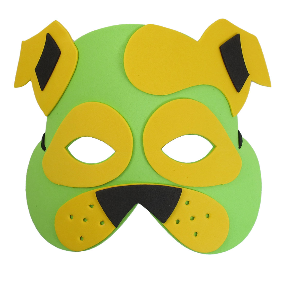 Green Yellow Foam Dog Head Shape Face Mask for Children