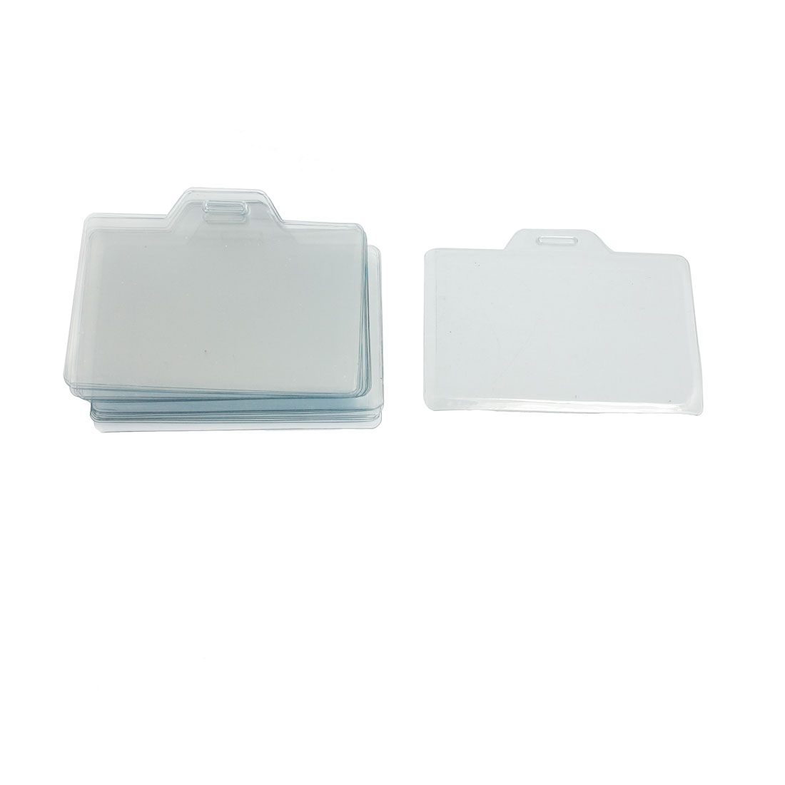"20 Pcs 3.3"" x 2"" Clear Plastic Name Tag Business ID Card Holder"