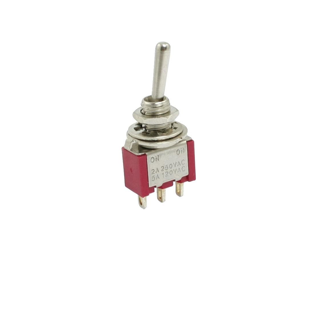 AC 250V/2A 125V/5A ON/ON 2 Position Toggle Switch SPDT Red