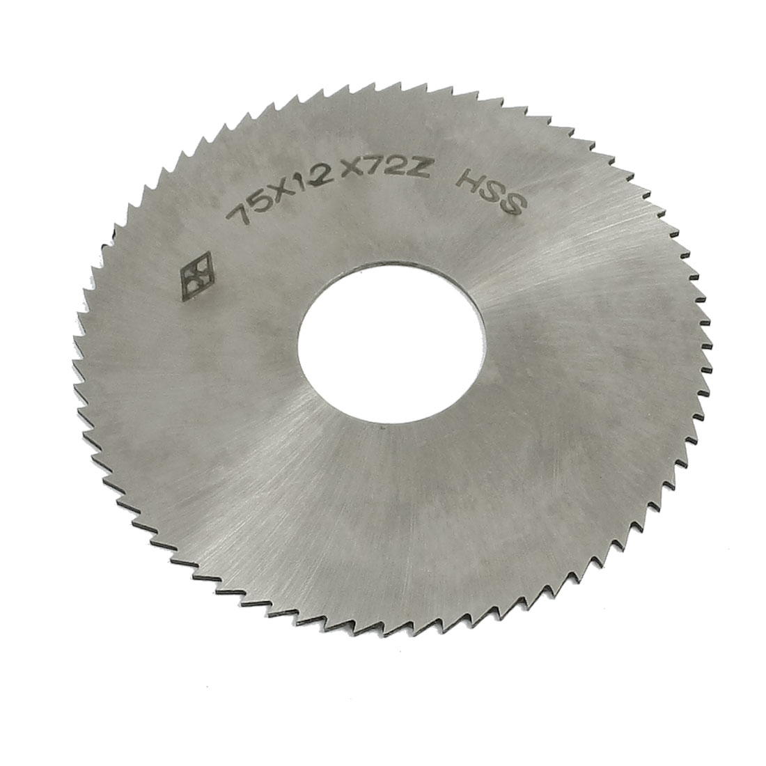 High Speed Steel 72T Slitting Saw Milling Cutter 75mm x 22mm x 1.2mm