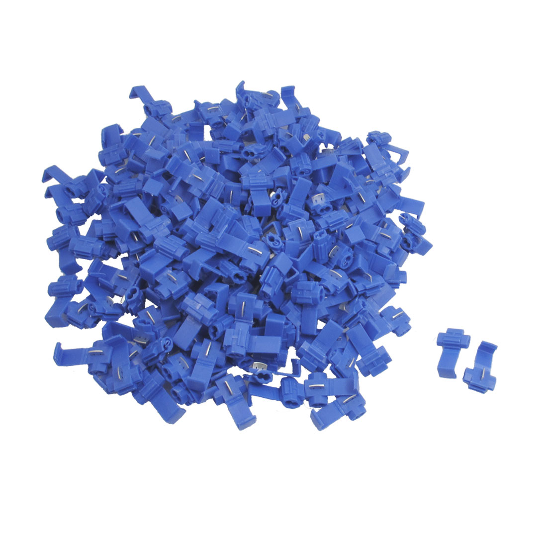 250 Pcs x Blue Plastic 18-14 AWG Cable Wire Clamp for Cars Auto