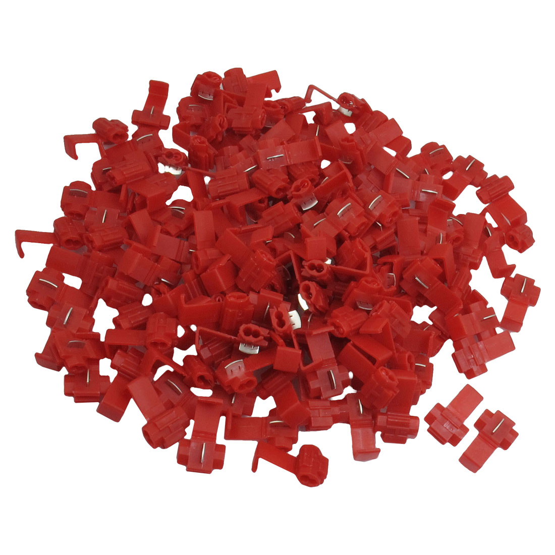 250 Pcs Car Door Red Plastic Cable Wire Clip Clamp 22-18 AWG
