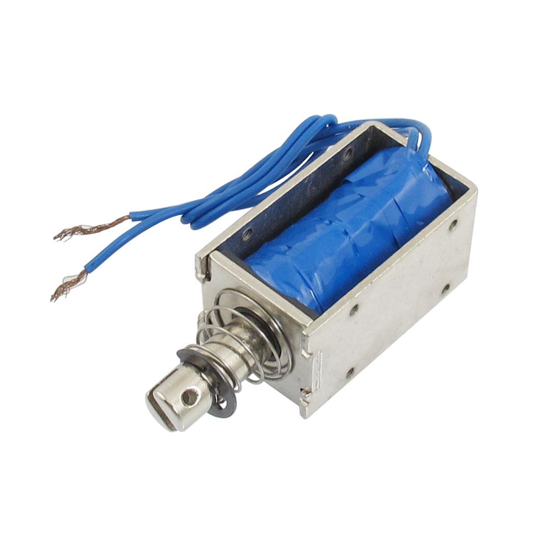 0.8Kg Holding Force Push Type Solenoid Electromagnet DC 12V 1.5A