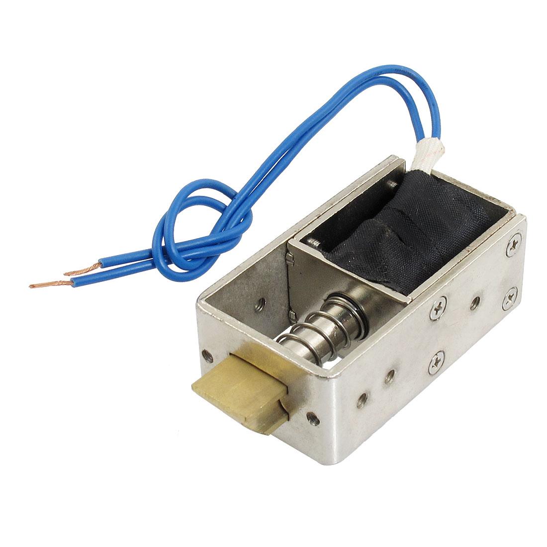 DC 12V 1.5A 1Kg Force Open Frame Pull Type Solenoid Electromagnet