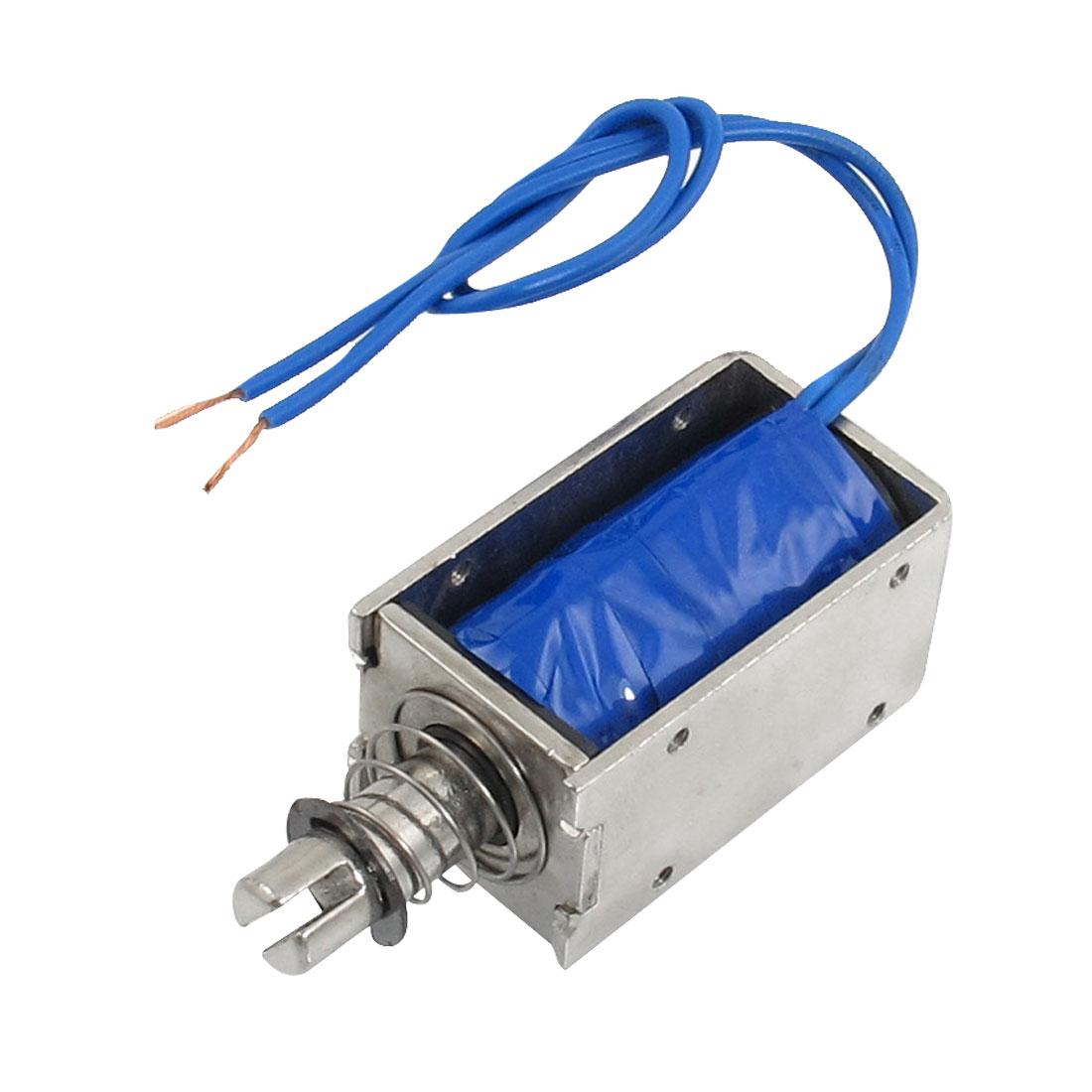 DC 12V 1.5A 0.8kg Holding Force Open Frame Push Solenoid Electromagnet