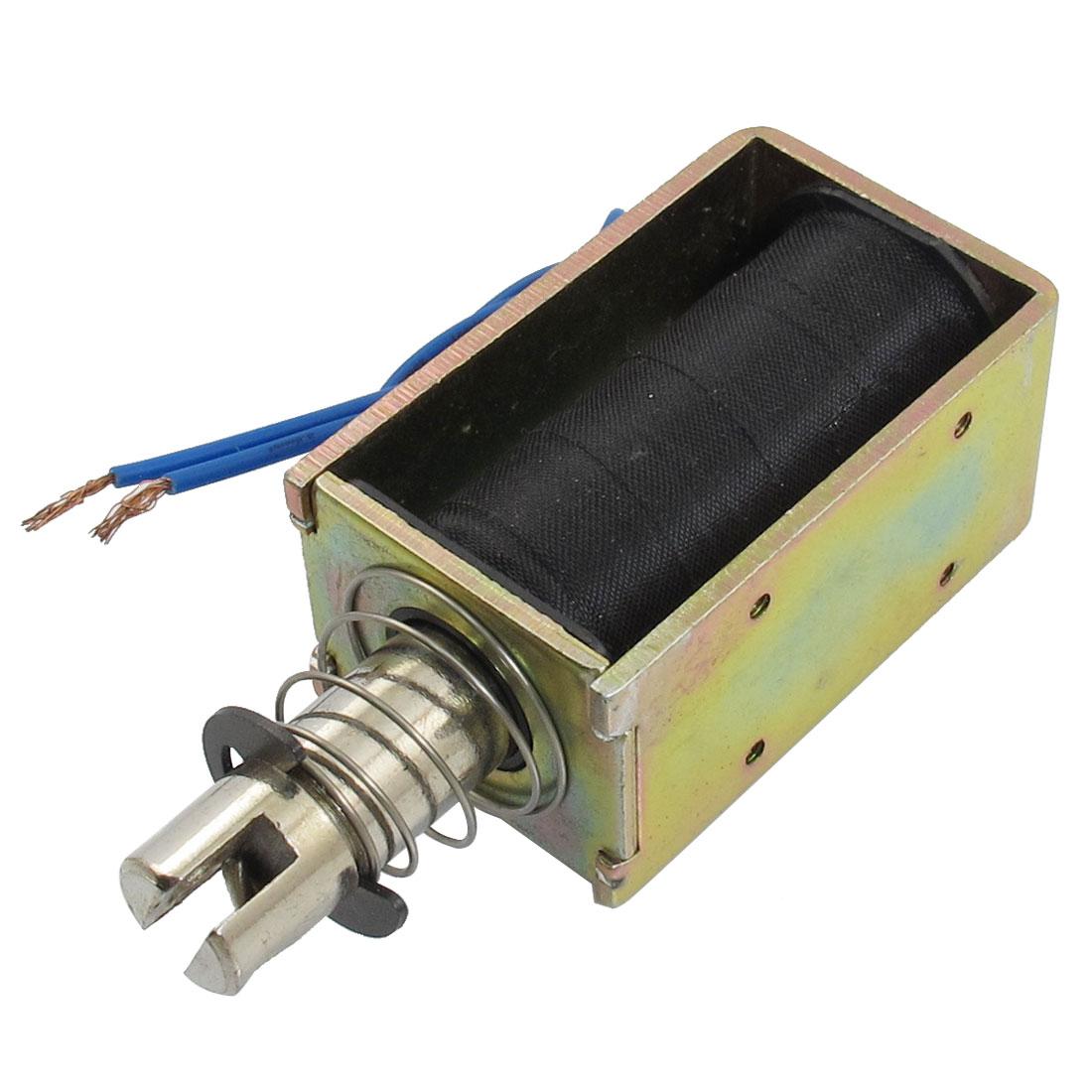 DC 24V 2.5A 10mm Stroke Pull Type Open Frame Solenoid Electromagnet