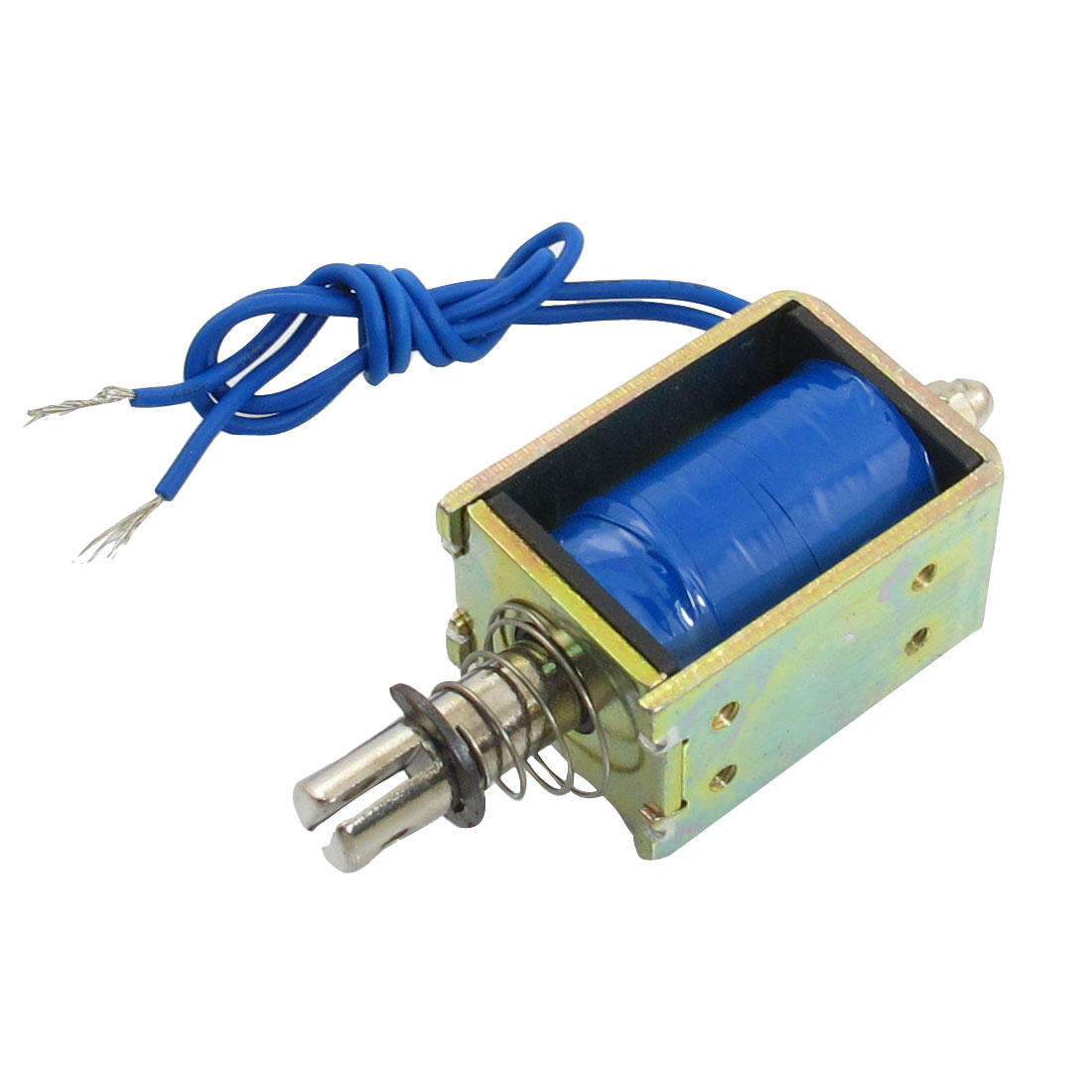 DC 24V 1A 10mm Stroke 0.2Kg Force Push Type Solenoid Electromagnet