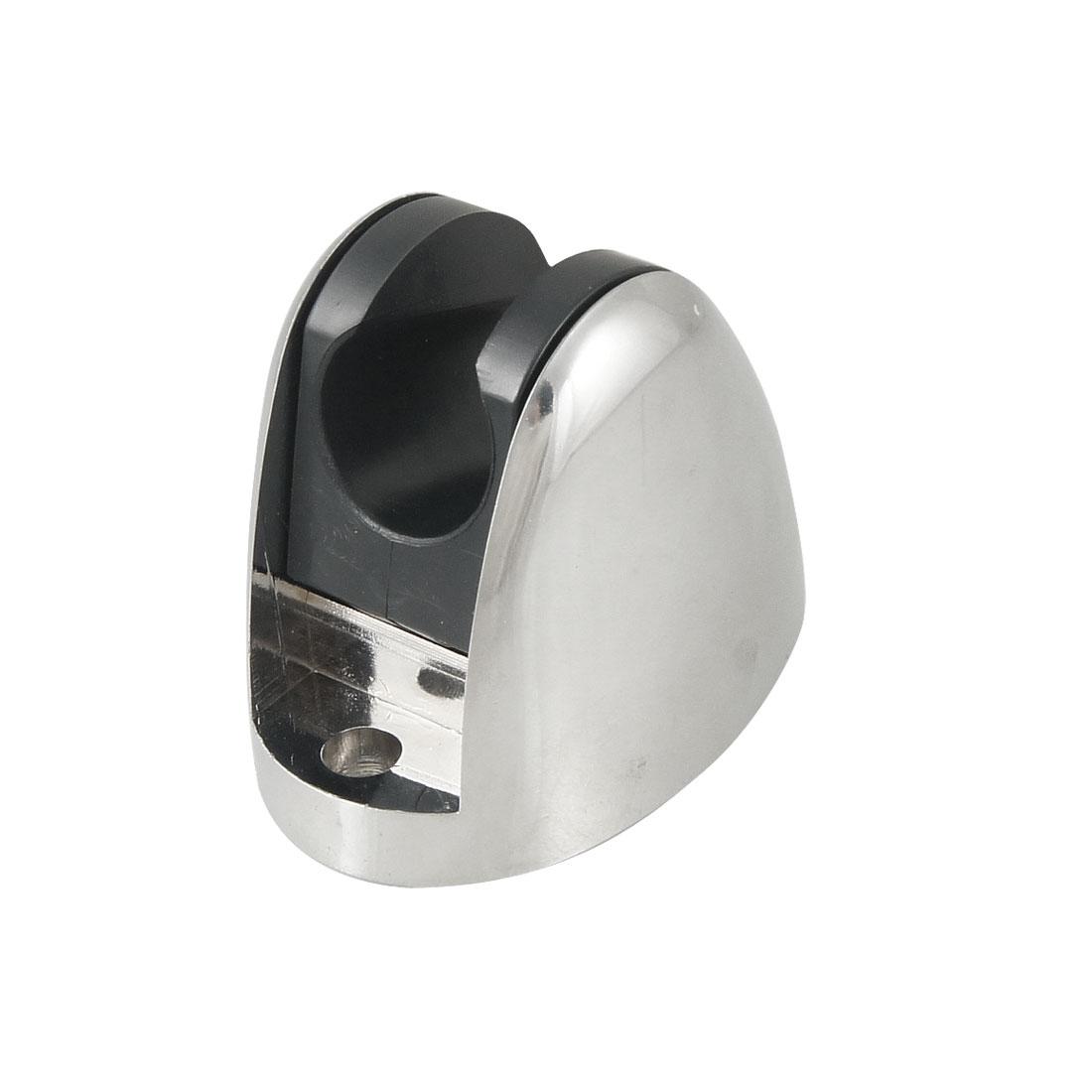 Silver Tone Black Plastic Bathroom Shower Head Holder Bracket