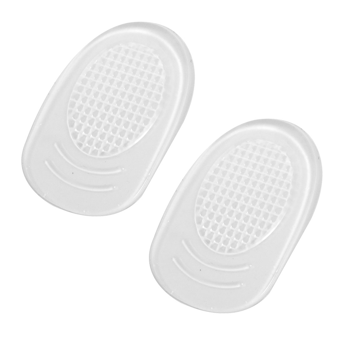 Pair Self Adhesive Silicone Heel Pads Cushions Clear for Ladies
