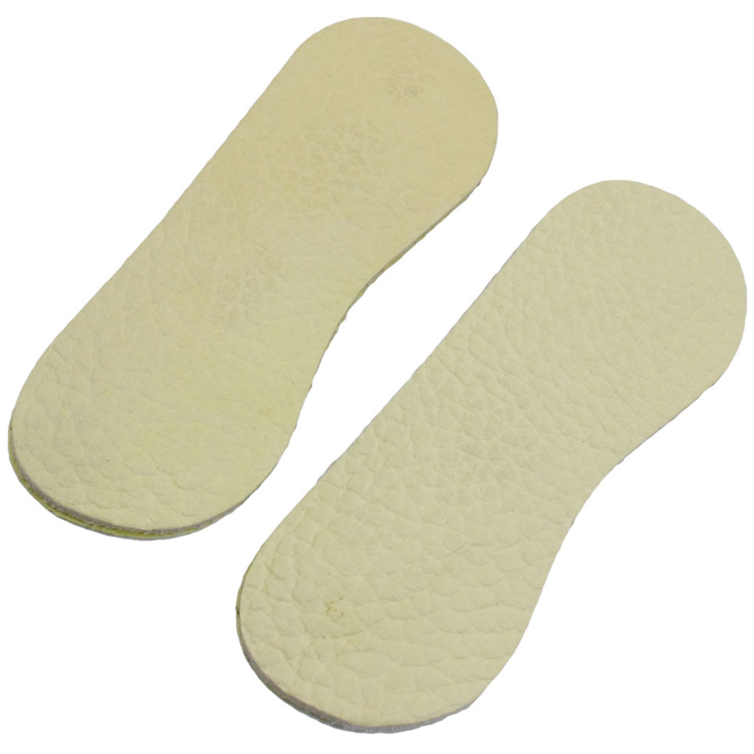 Pair Beige Faux Leather Back Pads Shoe Insoles for Women