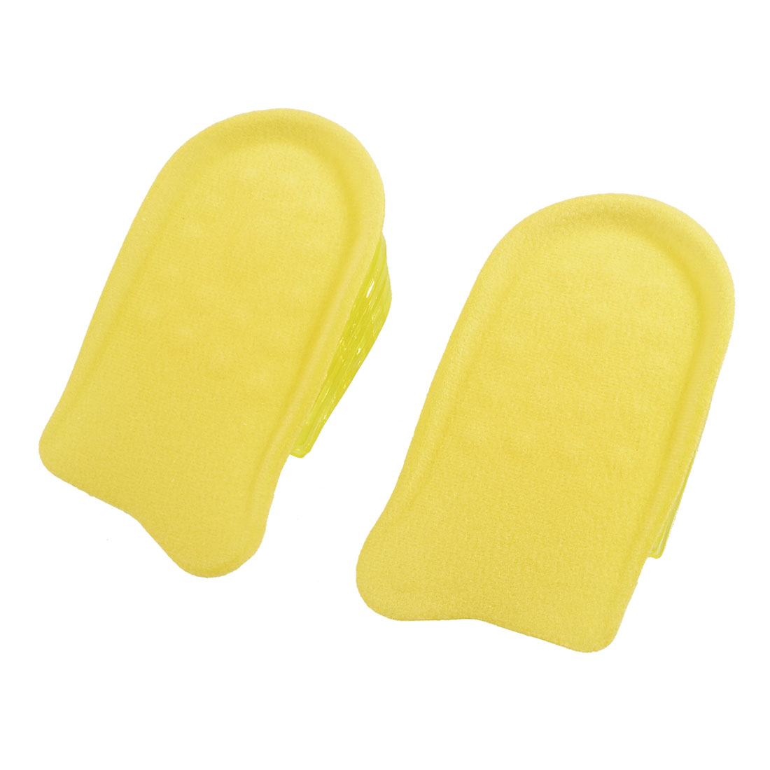 "Pair Removable 5-Layer 1.4"" Up Heel Lift Pad Height Insoles Yellow"
