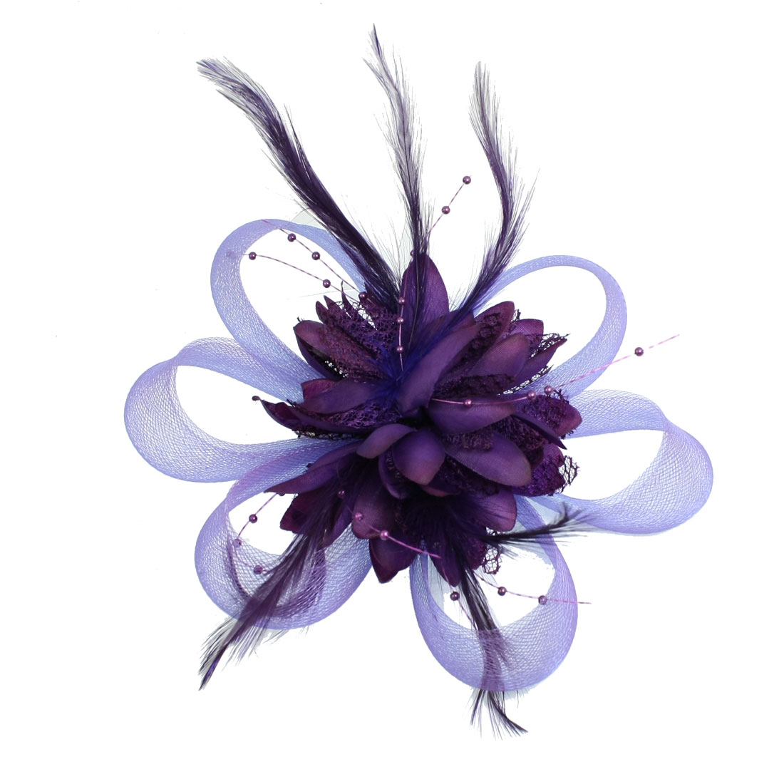 Purple Plastic Flower Alligator Hair Clip for Women