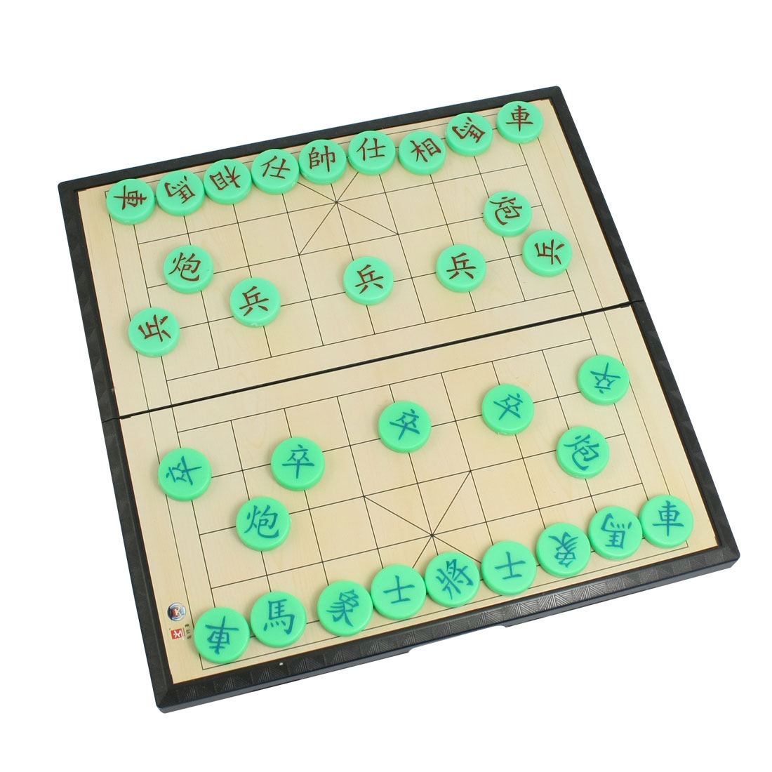 Round Magnetic Chessman Foldable Chessboard Chinese Chess Set