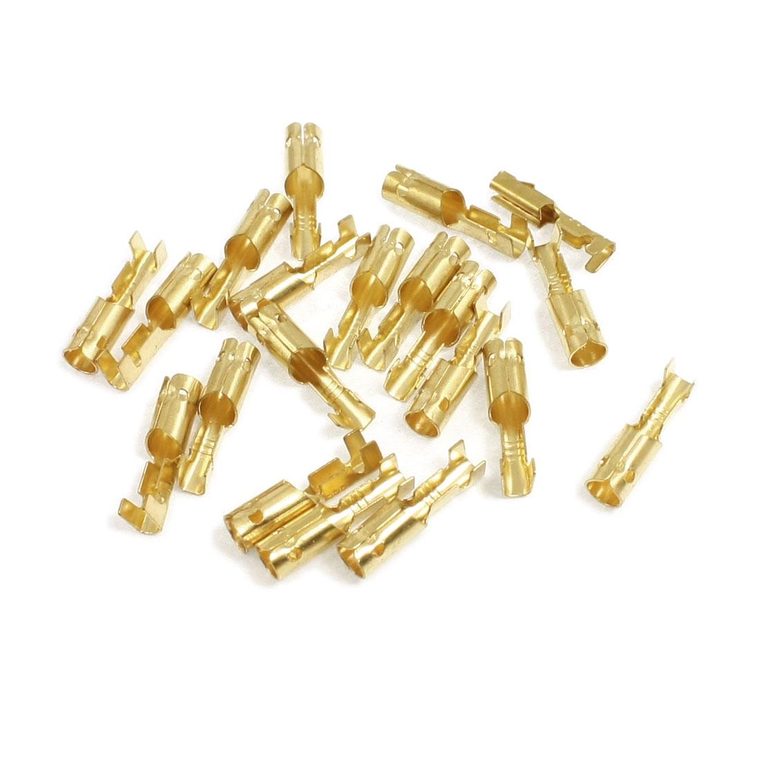 20 Pcs 3mm Diameter Wire Brass Female Crimp Terminal Connectors