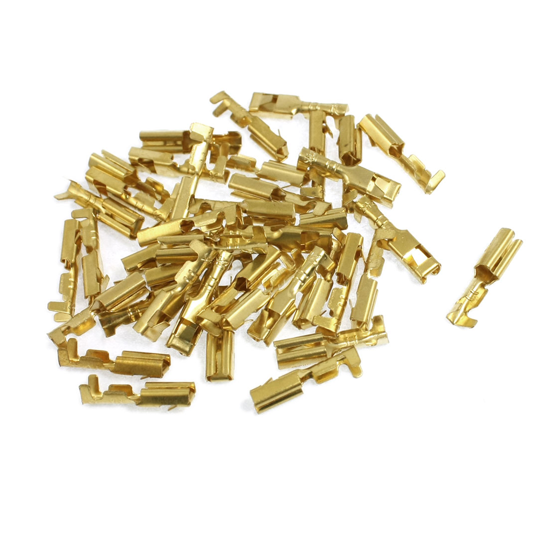 40 Pcs 3mm Diameter Wire Brass Female Crimp Terminal Connectors