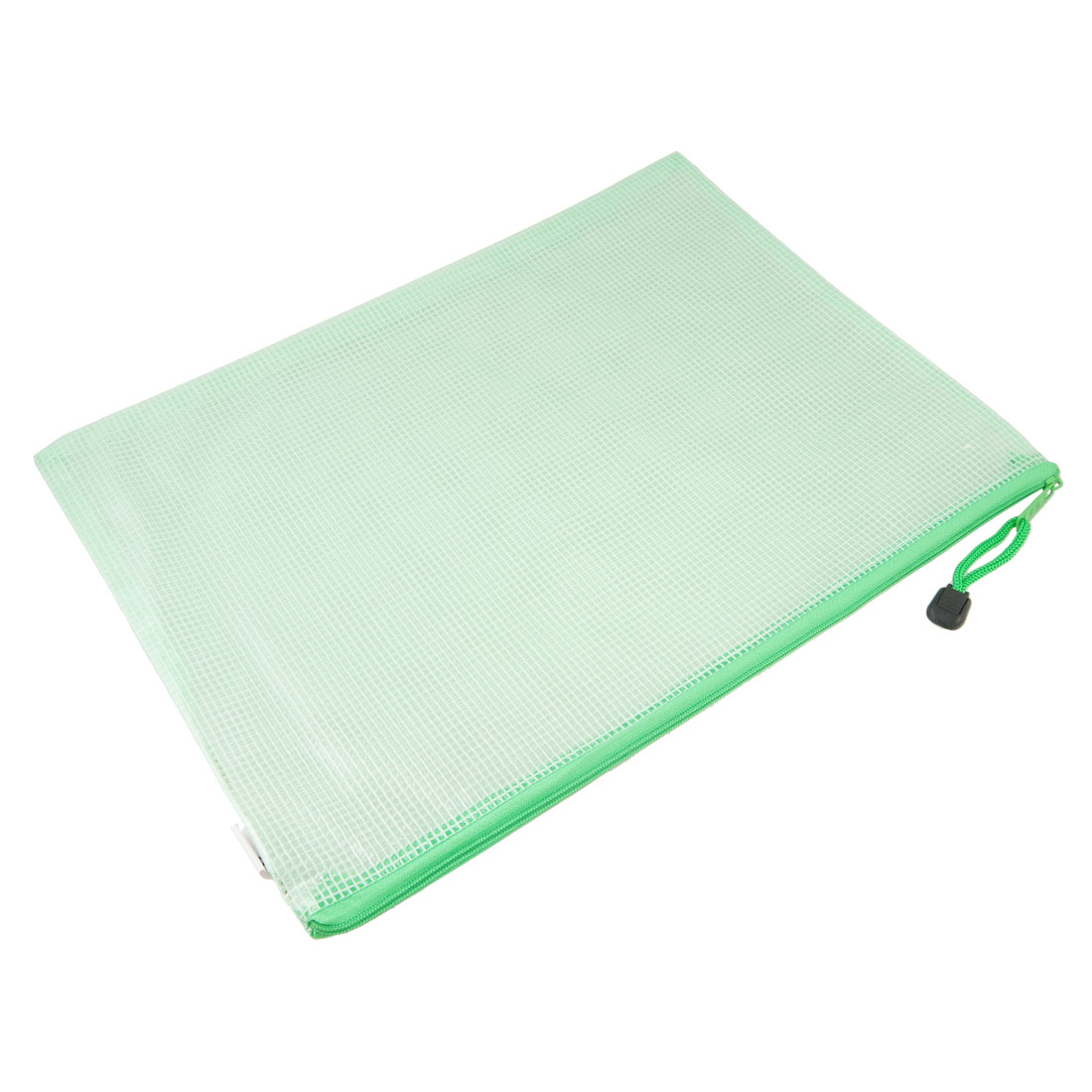 Office School Grid Design Water Resistant A4 Paper File Bags Green Clear