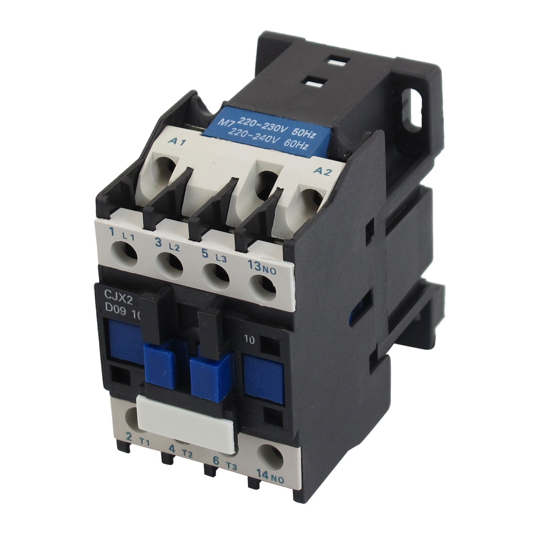 220V 50/60Hz Coil 9A 3 Pole 1NO 4KW 35mm Mounting Rail AC Contactor
