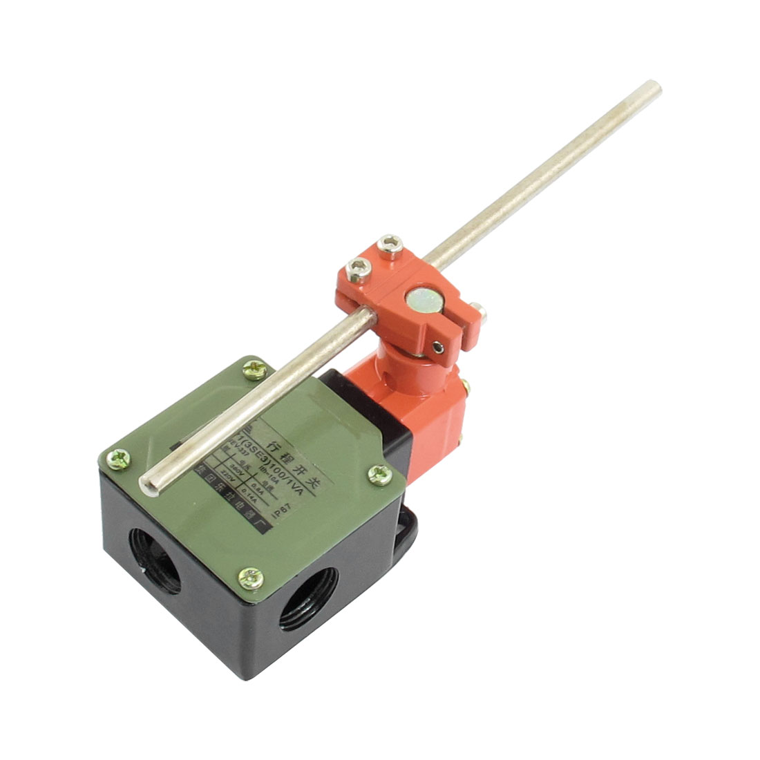 0.14A 220VDC 0.8A 380VAC 1NO 1NC SPDT Momentary Rotary Adjustable Lever Arm Limit Switch