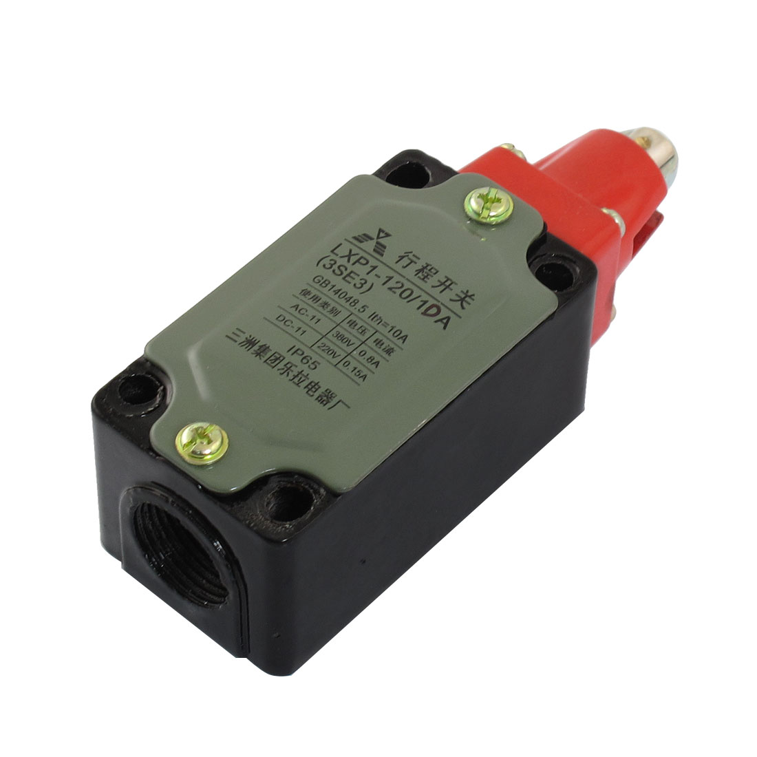 NO NC SPDT Enclosed Momentary Parallel Roller Plunger Limit Switch 0.15A 220VDC 0.8A 380VAC
