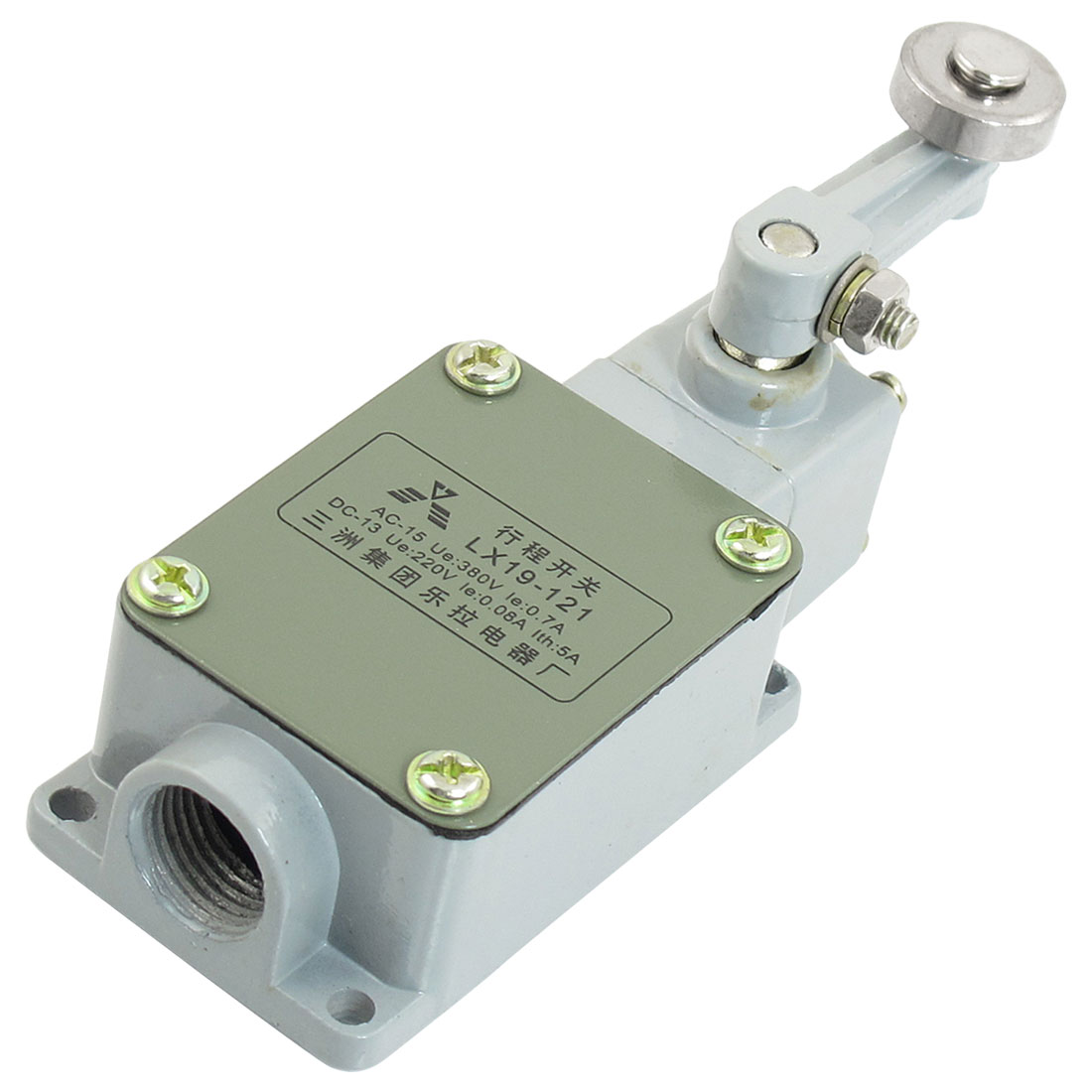 0.08A 220VDC 0.7A 380VAC 1NO 1NC Momentary Rotary Roller Lever Limit Switch LX19-121