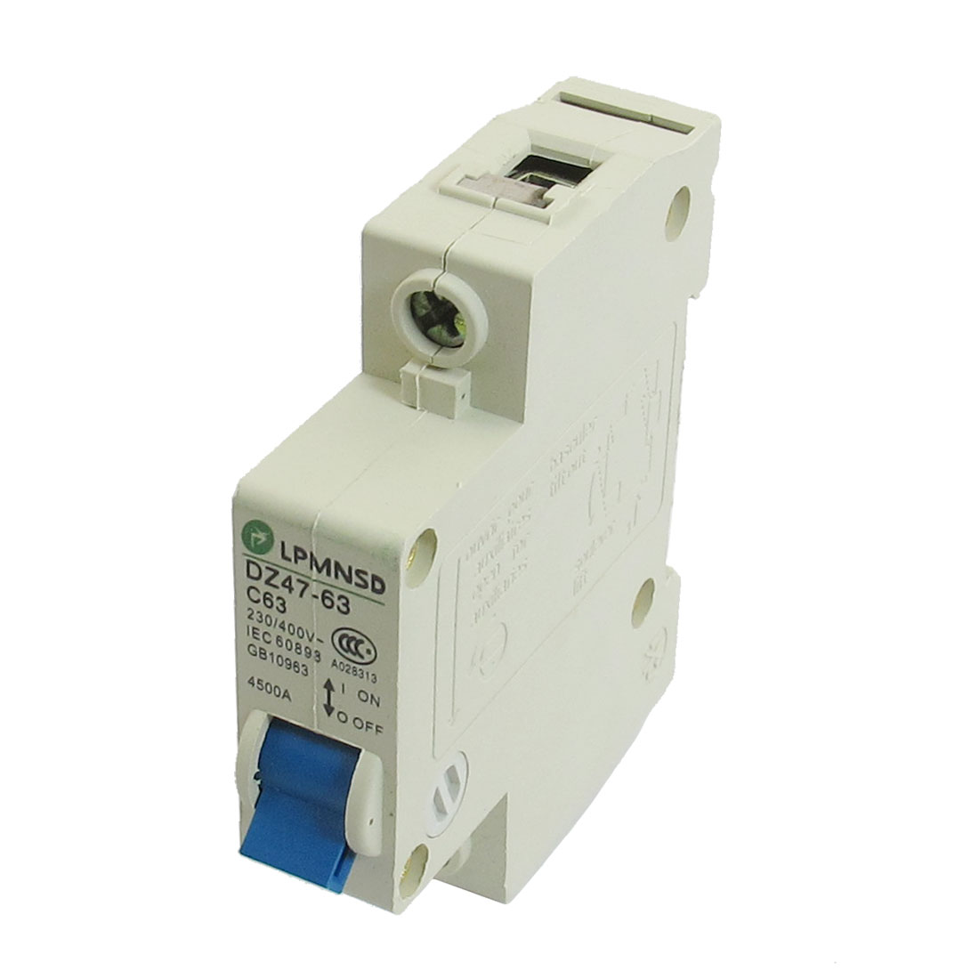 DZ47-63 C63 63A 230/400VAC 4500A Breaking Capacity 1 Poles Circuit Breaker