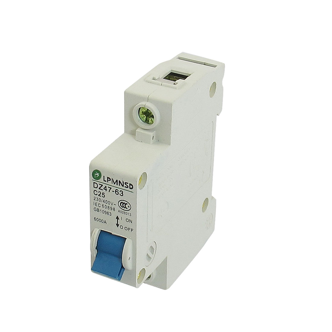 DZ47-63 C25 25A 230/400VAC 6000A Breaking Capacity 1 Poles Circuit Breaker