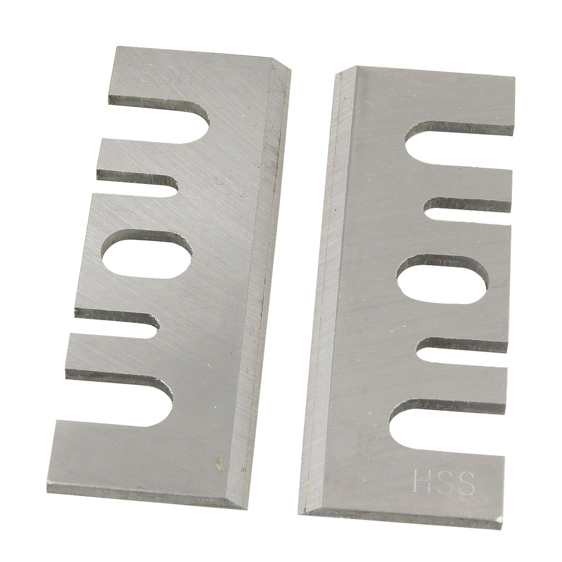 2 Pcs Silver Tone Electric Planer Blades for Makita F20A