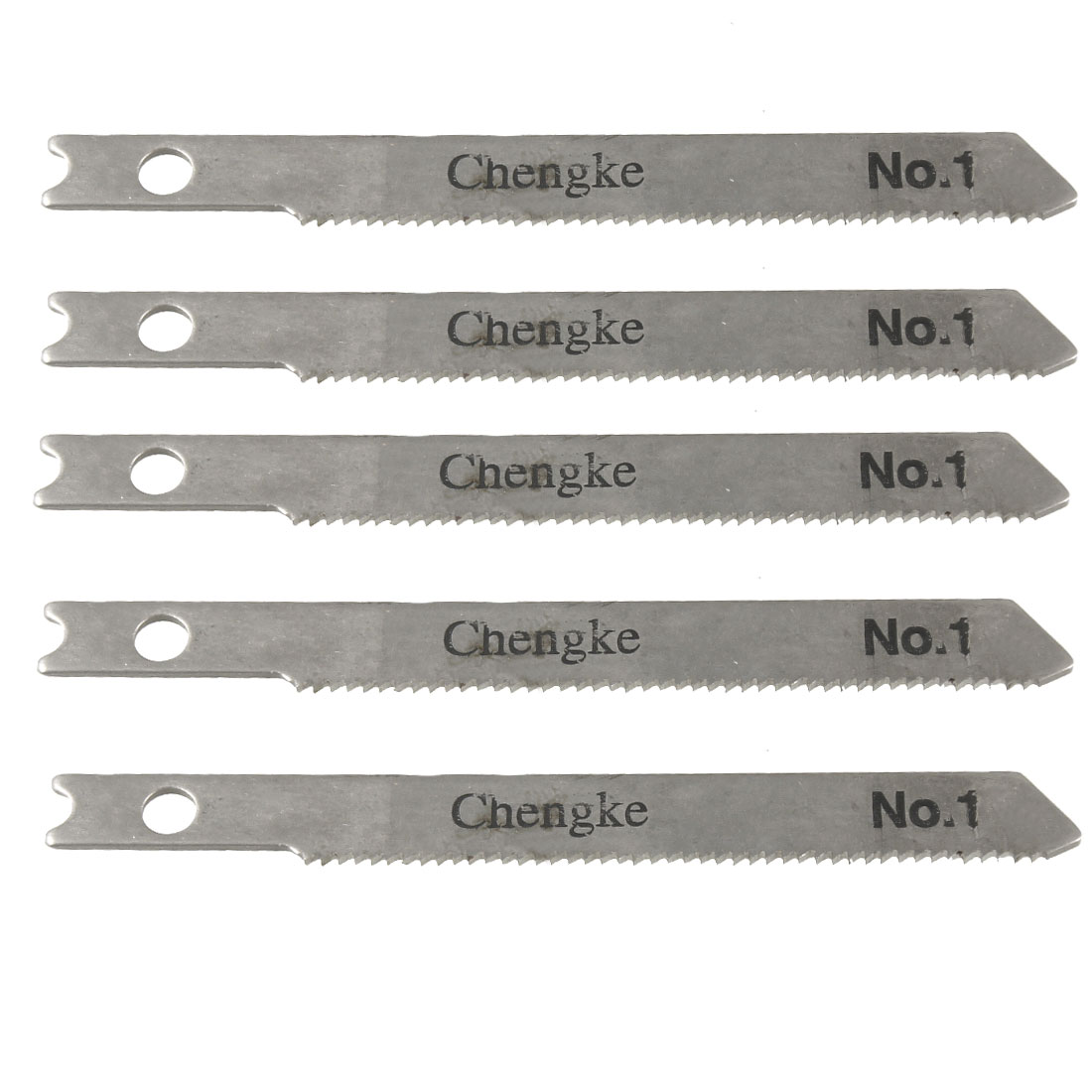 "5 Pcs Wood Cutting 3"" Straight High Carbon Steel Jigsaw Blades"