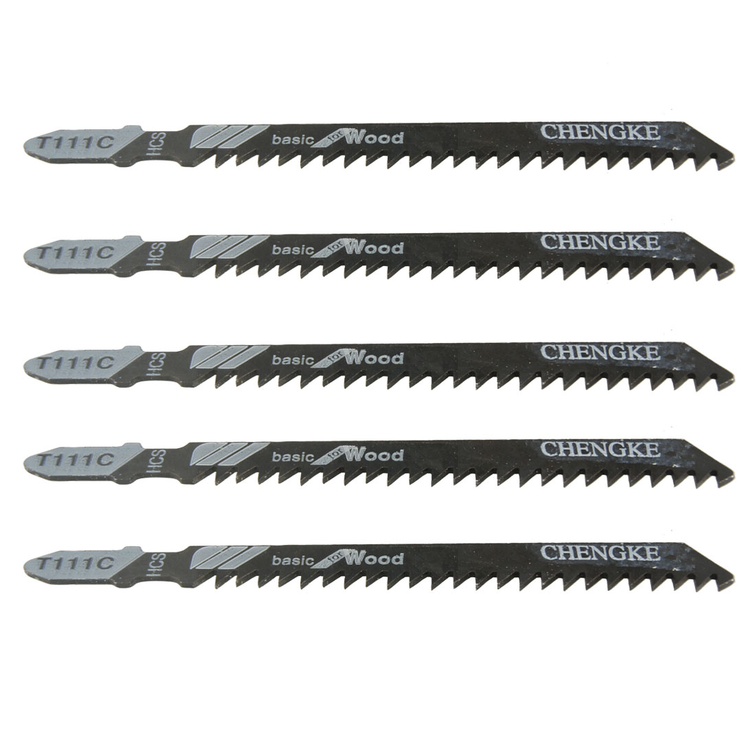 "5 Pcs 3.9"" Long T111C Jig Saw Blades for Electric Power Tool"