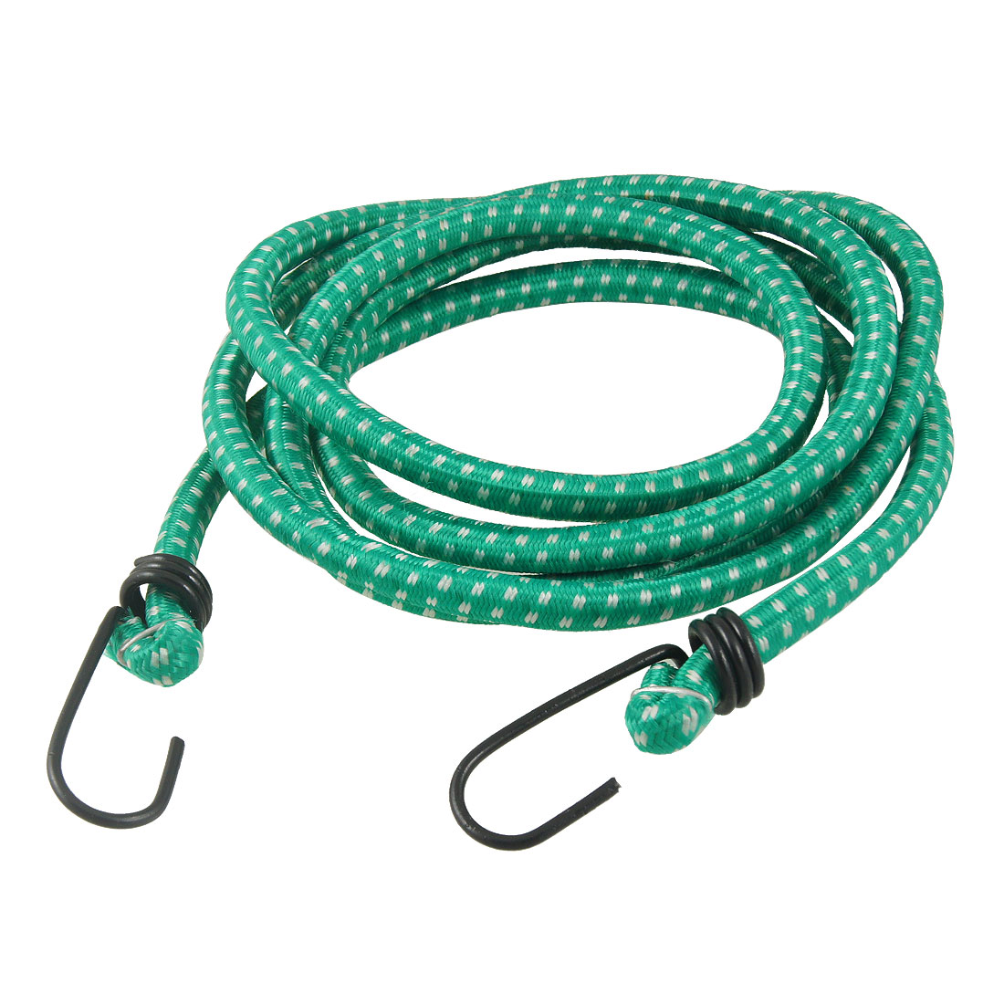 Double Hooks 2M Long Tie Down Cords Elastic Straps Green for Bicycle
