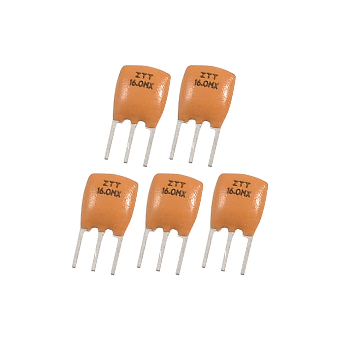 5 Pcs Radial Lead 16.000 MHz Ceramic Resonator 3 Pins ZTT Series