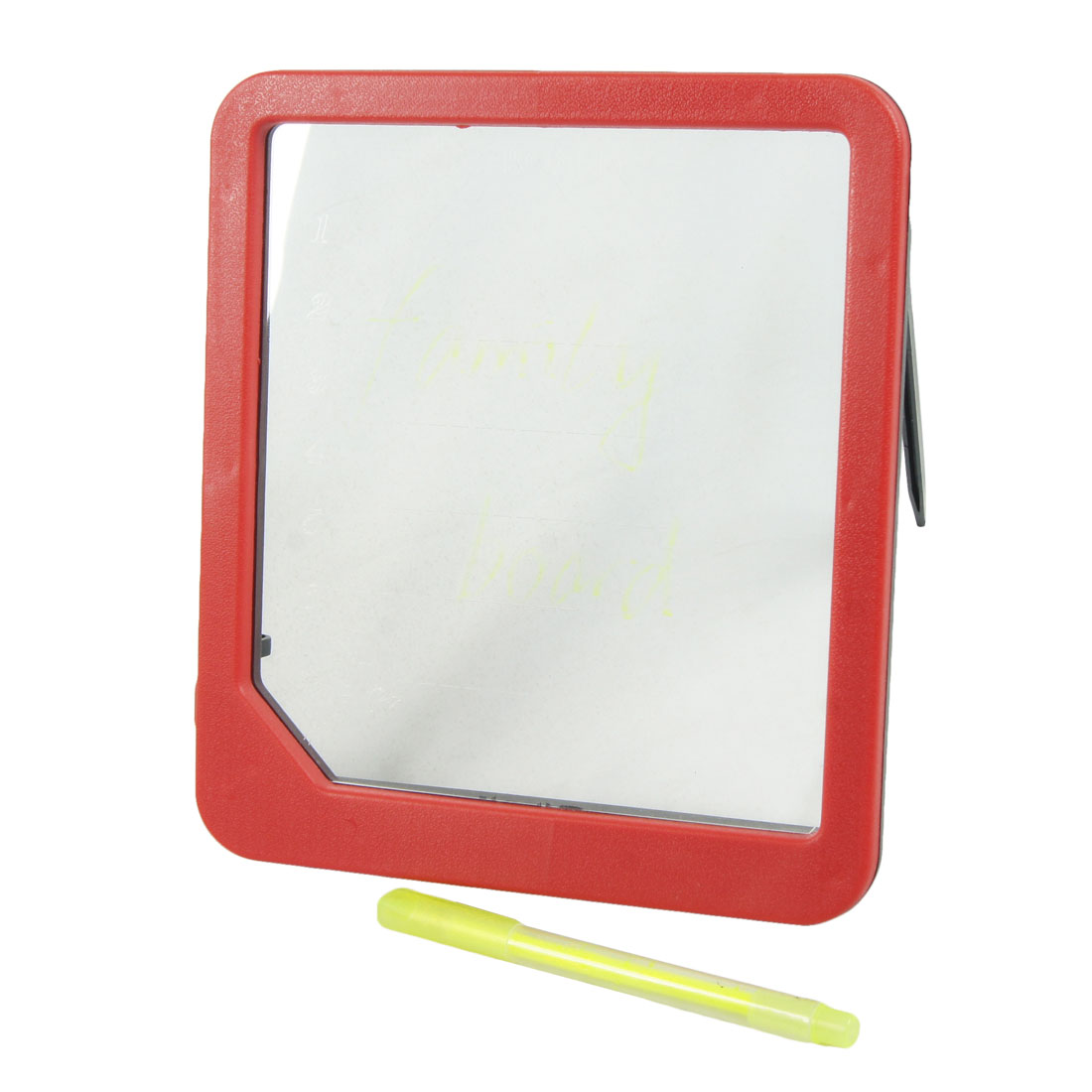 Red Frame Blue Light LED Message Text Glowing Board w Yellow Marking Pen