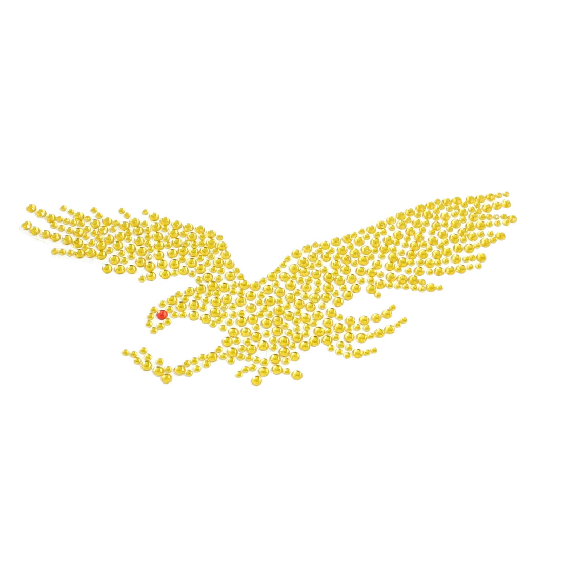 Yellow Glitter Rhinestone Eagle Style Decal Sticker for Car