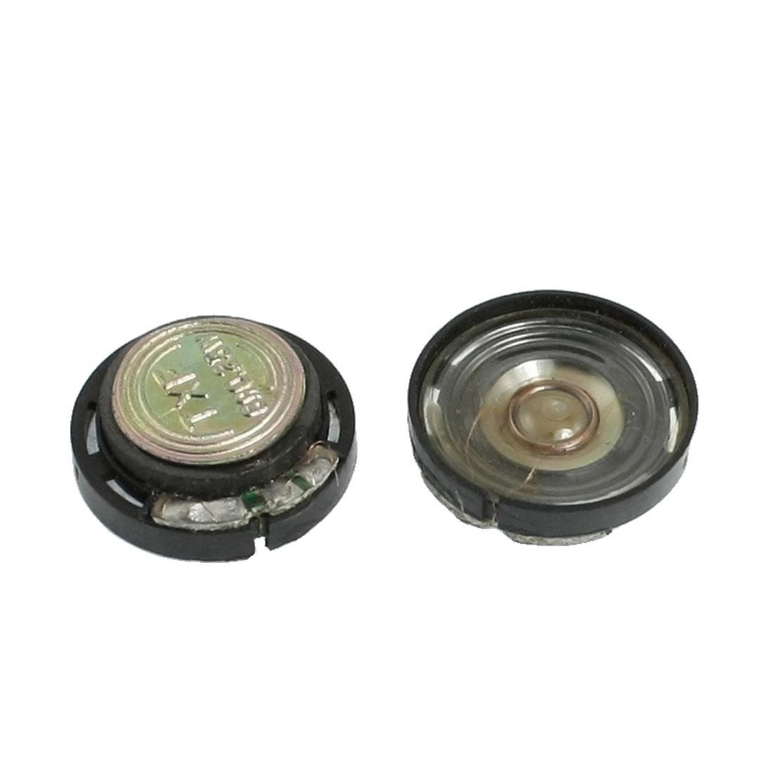 20mm External Magnetic Type Round Slim Plastic Shell Speaker 8 Ohm 0.25W 2 Pcs
