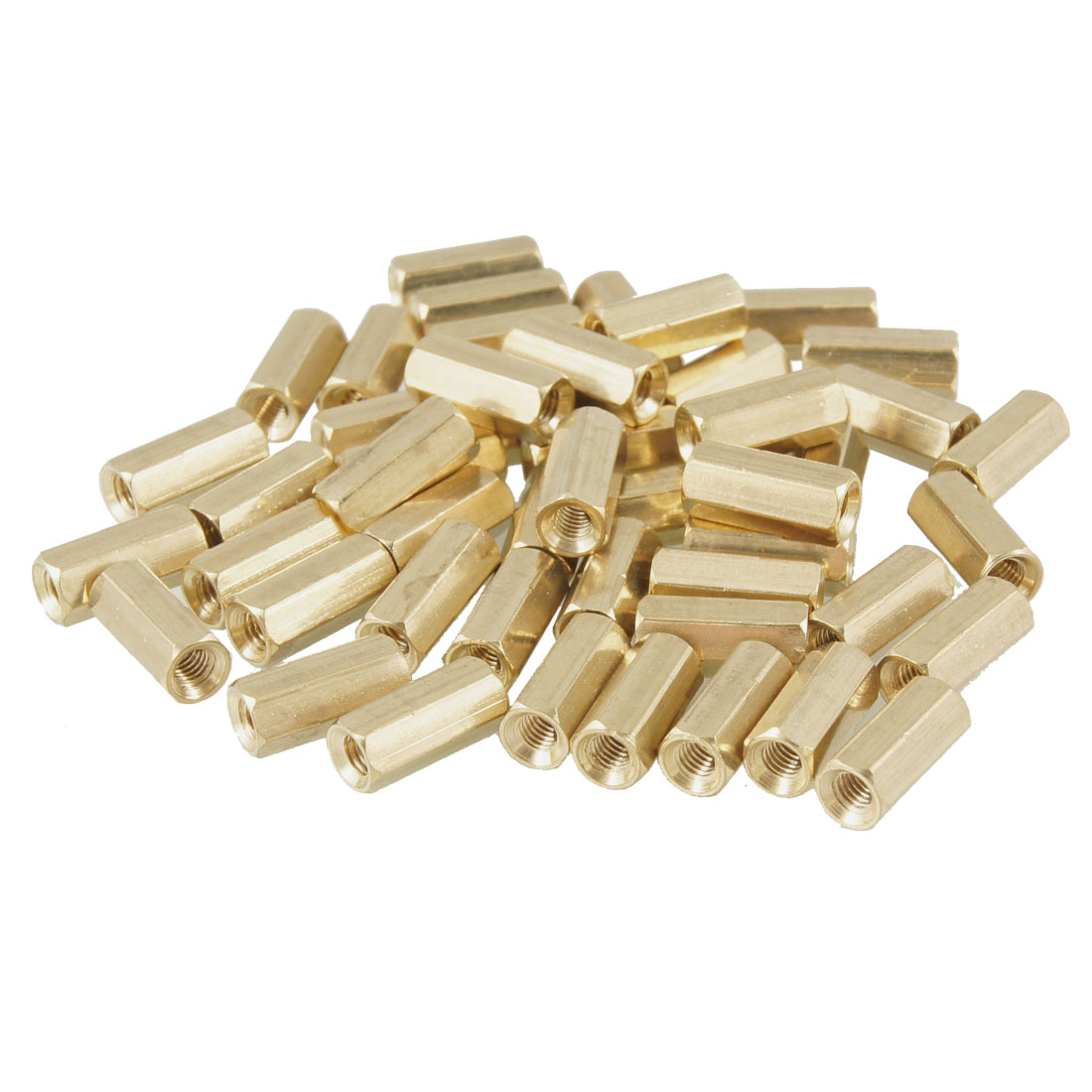 50 Pcs M3X9mm Hex Head Female Thread PCB Standoff Spacers