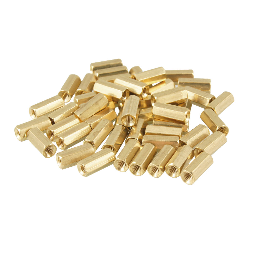 50 Pcs 3mm Female Screw Hexagonal Stand Off Spacers 10mm Length