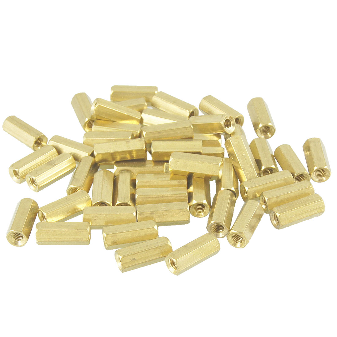 50 Pcs M3X13mm Gold Tone Female Thread Standoff Hexagonal Spacers